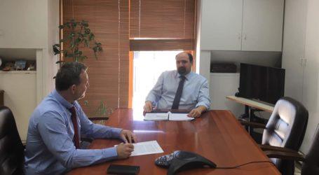 Συνάντηση Τριαντόπουλου με τον Βολιώτη Γραμ. του Εθνικού Τυπογραφείου