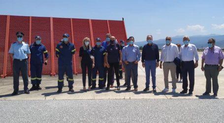 Κορωνοϊός: Σε ετοιμότητα το αεροδρόμιο Ν. Αγχιάλου για αφίξεις – Επίσκεψη Γ.Γ. Πολ. Προστασίας [εικόνες]