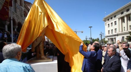 Αποκαλυπτήρια του αγάλματος του Κωνσταντίνου Παλαιολόγου στην Αγία Τριάδα Πειραιά