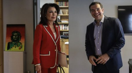 Συνάντηση Αλέξη Τσίπρα με την Πρόεδρο της Επιτροπής «Ελλάδα 2021»