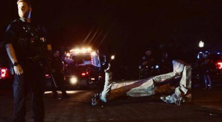 Διαδηλωτές γκρέμισαν το άγαλμα του Τζέφερσον Ντέιβις