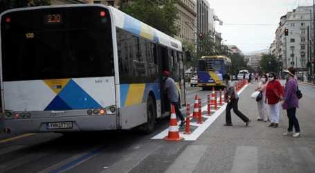Λεωφορείο προσέκρουσε σε στάση στην οδό Φιλελλήνων