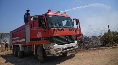 Φωτιά στην Αίγινα – Μεγάλη επιχείρηση της πυροσβεστικής
