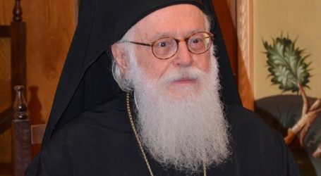 Ευχές για ταχεία ανάρρωση στον Αρχιεπίσκοπο Αλβανίας Αναστάσιο