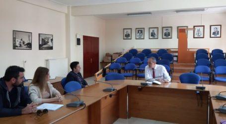 Συνάντηση Δημάρχου Ελασσόνας με εκπροσώπους αθλητικών σωματείων