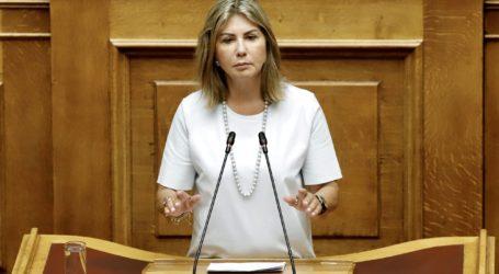 Ζέττα Μακρή στην Ολομέλεια της Βουλής: Τολμηρό το νομοσχέδιο του Υπουργείου Αγροτικής Ανάπτυξης
