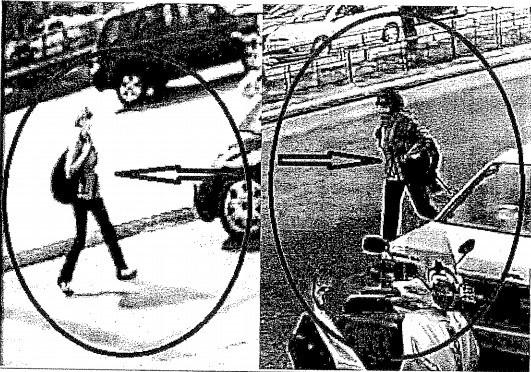 Κάμερες ασφαλείας στην περιοχή της Καλλιθέας κατέγραψαν τη γυναίκα να φοράει τσάντα πλάτης, περούκα, χειρουργική μάσκα στο πρόσωπο, παλτό και γάντια