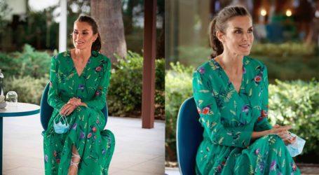 Η εντυπωσιακή εμφάνιση της βασίλισσας Letizia της Ισπανίας floral φόρεμα!