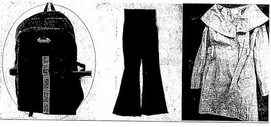 Τα ρούχα και το σακίδιο (κατασχεθέντα)
