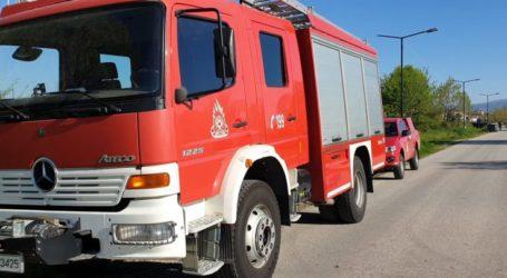 Λάρισα: Πυρκαγιά κοντά στα ΣΕΑ Ευαγγελισμού