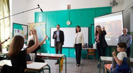 Επίσκεψη του Κυρ. Μητσοτάκη στο 2ο Δημοτικό Σχολείο Καλλιθέας