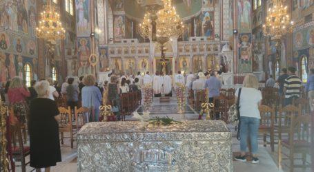Δείτε φωτογραφίες: Πανηγυρικός Αρχιερατικός Εσπερινός για τα ονομαστήρια του Μητροπολίτη Λαρίσης και Τυρνάβου στον Άγιο Αχίλλιο