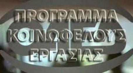 Δήμος Ελασσόνας: «Ειδικότητες προγράμματος κοινωφελούς χαρακτήρα»