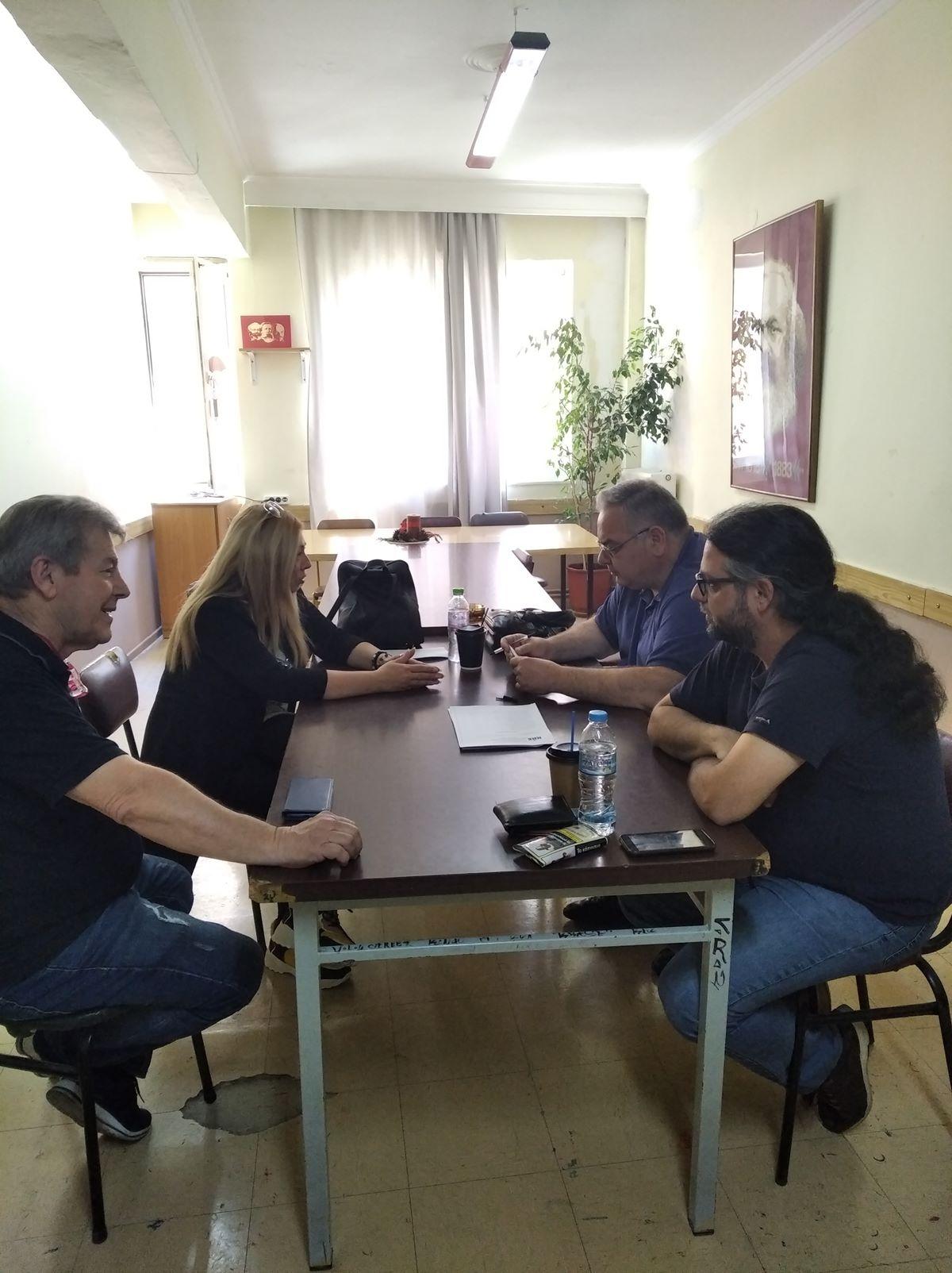 Με τους Θεσσαλούς μουσικούς συναντήθηκε ο Γ. Λαμπρούλης