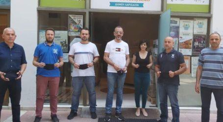 Προσφορά μασκών από το Σύλλογο Μαραθωνοδρόμων στο Κοινωνικό Παντοπωλείο δήμου Λαρισαίων
