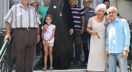 Ο Αρχιεπίσκοπος Κατάρ σε Βιομηχανία Ελαιών στο Πήλιο