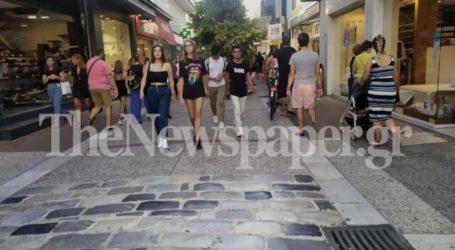 Βόλος: «Δροσίστηκε» σήμερα η εμπορική αγορά – Δείτε εικόνες
