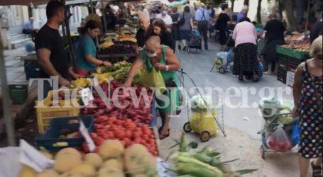 Βόλος: «Χλιαρά» τα μέτρα προστασίας στις λαϊκές αγορές [εικόνες]
