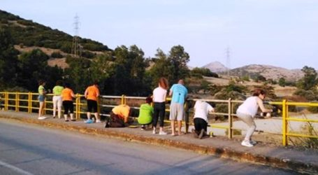 «Λίφτινγκ» στη γέφυρα του Δαμασίου από εθελοντές
