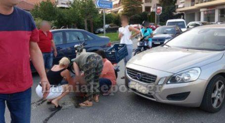Τραυματίστηκε δικυκλιστής σε τροχαίο στη Λαμία