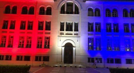 Στα χρώματα της αμερικανικής σημαίας το κτήριο της ΧΑΝΘ για την Ημέρα της Ανεξαρτησίας