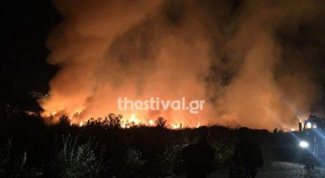 Φωτιά σε έκταση με ξηρά χόρτα στη ΒΙΠΕΘ