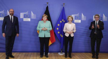 Υπέρ της ισχυρής συνεργασίας των ευρωπαϊκών θεσμών Μέρκελ, Φον Ντερ Λάιεν, Μισέλ και Σασόλι