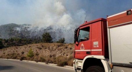 Πυρκαγιά σε οικόπεδο στη Βάρη