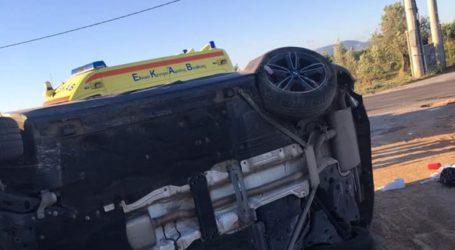 Σφοδρή σύγκρουση οχημάτων με τέσσερις τραυματίες στα Σπάτα