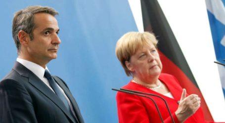 Τηλεφωνική επικοινωνία Μητσοτάκη-Μέρκελ ενόψει της Συνόδου Κορυφής