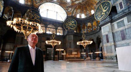Ο πρόεδρος Ερντογάν επισκέφθηκε την Αγία Σοφία