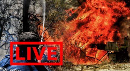 Μάχη με τις φλόγες στην Κορινθία