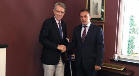Στην Αλεξανδρούπολη ο υπουργός Εθνικής Άμυνας και ο πρέσβης των ΗΠΑ Τζ. Πάιατ