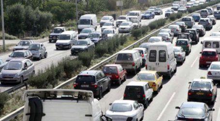 Αυξημένη κίνηση και χαμηλές ταχύτητες στον δρόμο προς Χαλκιδική