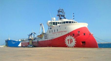 Aπέπλευσε το τουρκικό σκάφος Barbaros