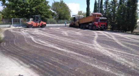 """Λάρισα: Το """"ευχαριστώ"""" των εργαζομένων του ΕΚΑΒ – Ασφαλτοστρώθηκε ο χώρος στάθμευσης οχημάτων (φωτο)"""