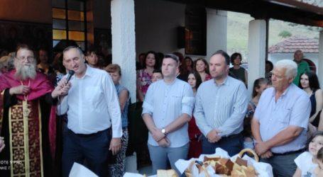 Στο Αργυροπούλι ο δήμαρχος Τυρνάβου Γ. Κόκουρας για την Αγία Παρασκευή