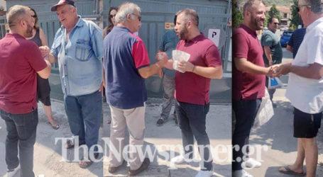 Με κατοίκους κι επιχειρηματίες της Αγριάς μίλησε ο Αλέξανδρος Μεϊκόπουλος [εικόνες]