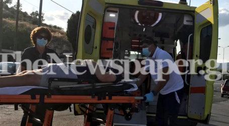ΤΩΡΑ: Σοβαρό τροχαίο στον Βόλο με έναν τραυματία – Δείτε εικόνες και βίντεο