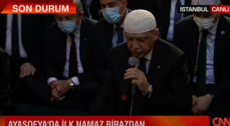 Ιστορική βεβήλωση: Στην Αγιά Σοφιά προσεύχεται ο Ερντογάν – Σόου από τον «σουλτάνο» [βίντεο]
