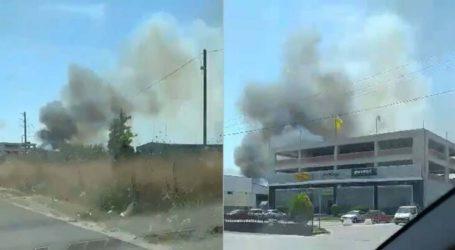 Λάρισα: Φωτιά στη Νέα Σμύρνη – Σε κοντινή απόσταση βρίσκονται καταστήματα (βίντεο)