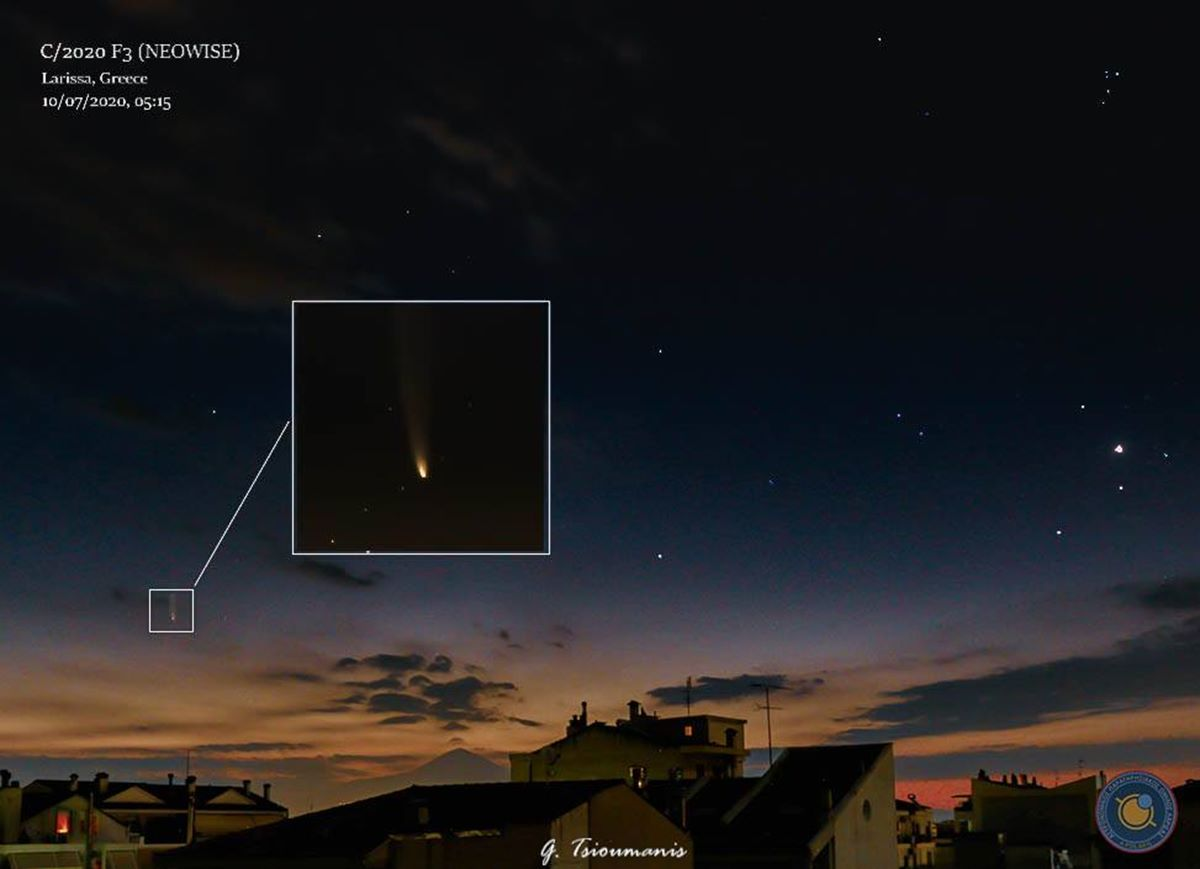 Δείτε εντυπωσιακές εικόνες: Λαρισαίοι φωτογράφησαν τον κομήτη που πλησιάζει τη Γη από την πόλη αλλά και τα παράλια