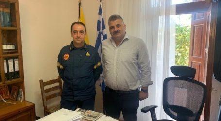 Με τον νέο Διοικητή του Πυροσβεστικού Κλιμακίου Αργαλαστής συναντήθηκε ο Μιτζικός