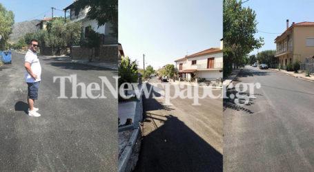 Ασφαλτοστρώσεις στην Αγριά: Το «βάρος» στις Δημοτικές Ενότητες [εικόνες]