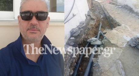Καταγγελίες Πάσχου για έργα ύδρευσης στο Κεραμίδι [εικόνες]