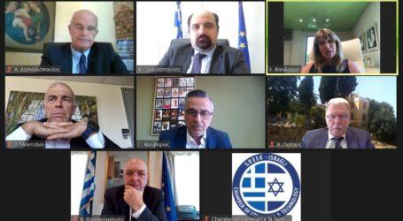 Σε διαδικτυακή συνάντηση του Ελληνο-Ισραηλινού Επιμελητηρίου, ο Χρήστος Τριαντόπουλος