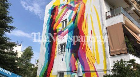 Βόλος: Ποδαρικό… με εξαιρετική τοιχογραφία από την UrbanAct [εικόνες]