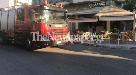 Βόλος: Φωτιά σε γνωστό ψητοπωλείο επί της Κασσαβέτη [εικόνες]