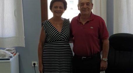 Με τον δήμαρχο Αλοννήσου συναντήθηκε η Μαρίνα Χρυσοβελώνη