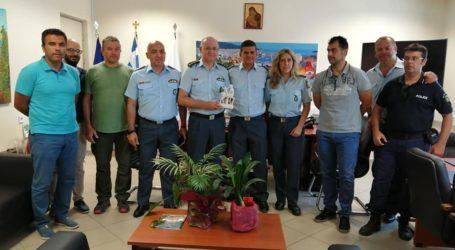 Βόλος: Στον Διοικητή της Αστυνομίας τα μέλη της Διεθνούς Ένωσης Μαγνησίας